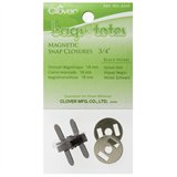 Clover magnetic clasp 18mm black nickel