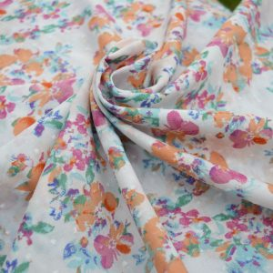 Clip Dot Cotton // Floral // Holm Sown