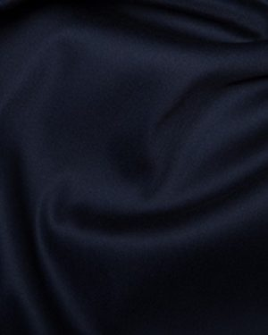 Holm Sown Online Fabric Shop - Cotton Stretch Sateen Dressmaking Fabric - Navy Bllue