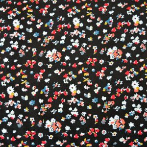 Ditsy Black Floral Viscose // thumb // Holm Sown