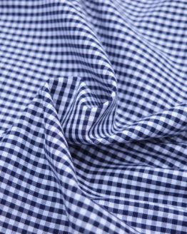 Mini Check Gingham // Navy Blue // Holm Sown