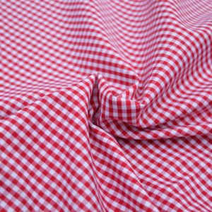 Mini Check Gingham // Red // Holm Sown