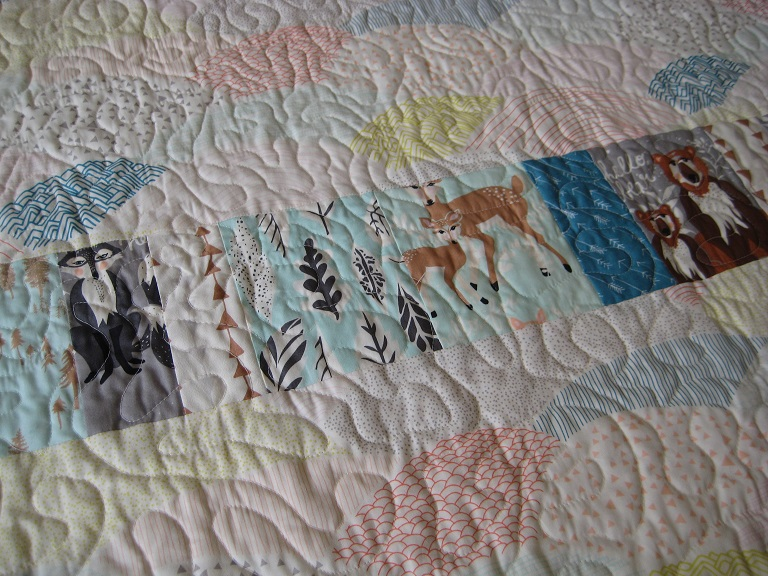 Wonky Log Cabin Quilt // back detail // Holm Sown