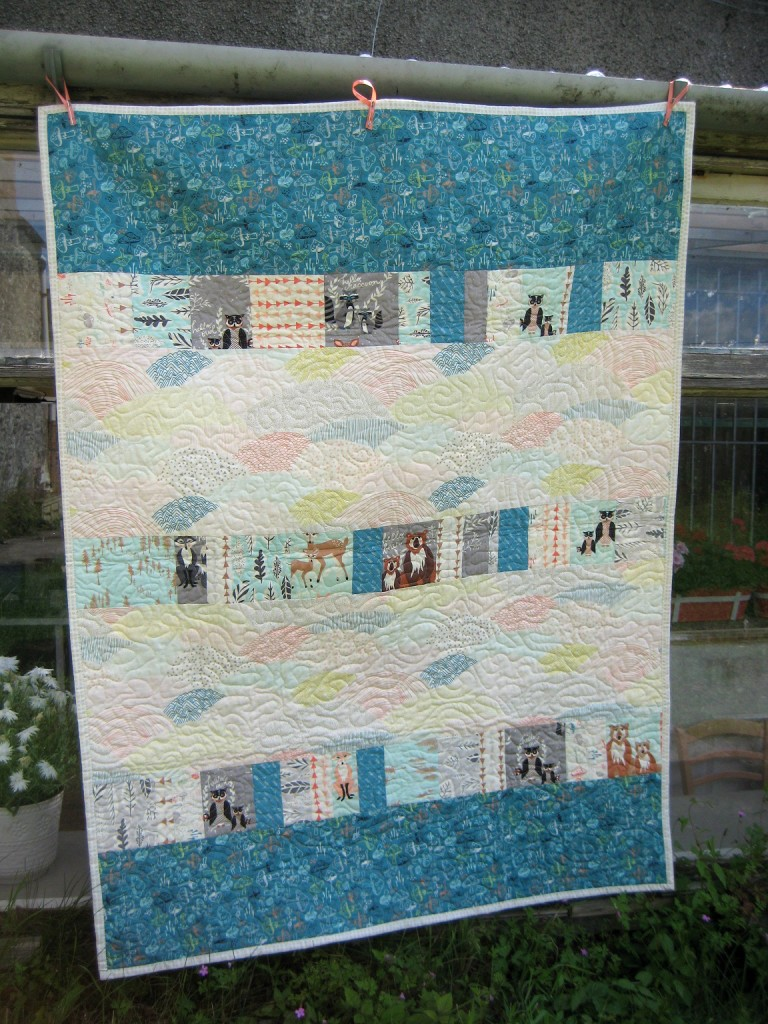 Wonky Log Cabin Quilt // Pieced Back // Holm Sown
