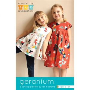 Holm Sown Online Fabric Shop - Geranium Dress and Top paper sewing pattern from Made by Rae - Sizes newborn to 5 years - dressmaking sewing pattern