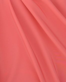 Peachskin luxury crepe fabric // Coral // Holm Sown