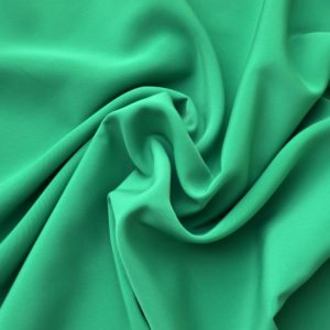 Peachskin luxury crepe fabric // Emerald Green // Holm Sown