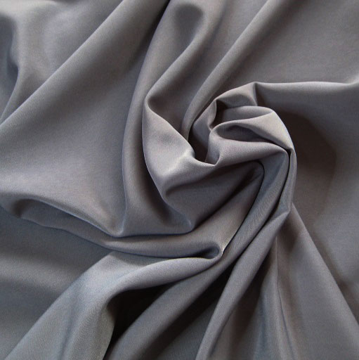 Peachskin luxury crepe fabric // Gunmetal Grey // Holm Sown