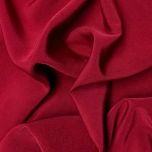 Peachsking luxury polyester crepe fabric // spice red // Holm Sown