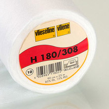Vilene H180 iron-on lightweight interfacing (white)