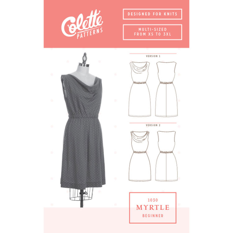 Colette Sewing Patterns // 1030 Myrtle Dress // pattern envelope // Holm Sown