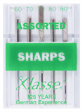 Klasse Machine Needles Sharps Assorted
