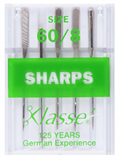 Klasse Machine Needles Sharps 60/8