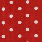 Red and White Spot Stretch Cotton