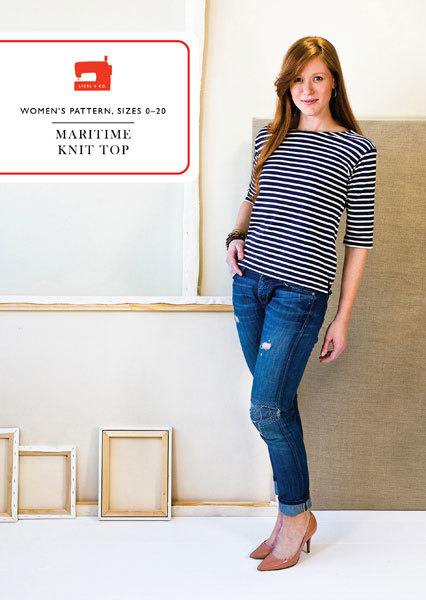 Maritime Knit Top Liesl + Co | dressmaking pattern / sewing with knits |Holm Sown