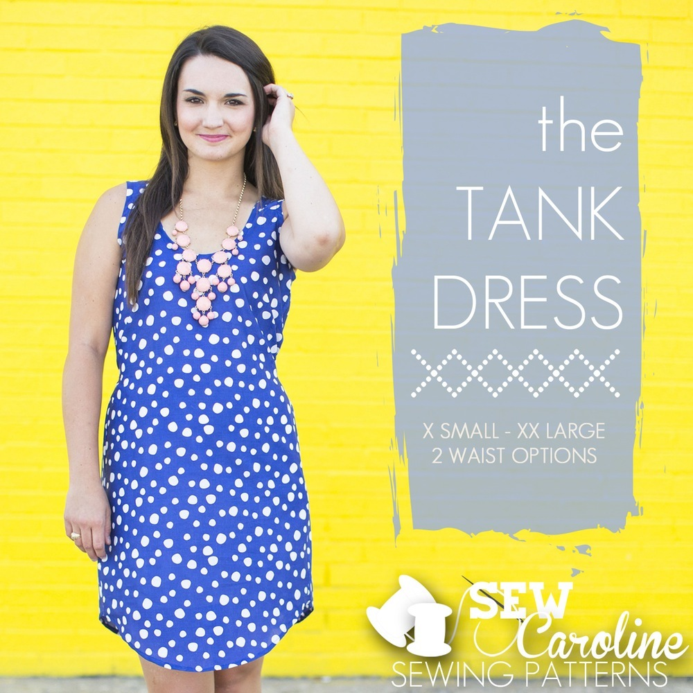 The Tank Dress // Sew Caroline // Holm Sown