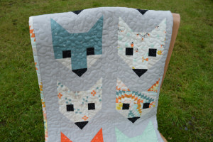 Fancy Fox Quilt - front detail. Sewn by Holm Sown.