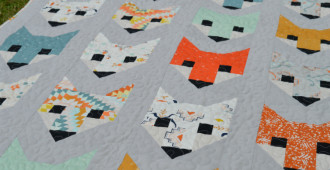 Fancy Fox Quilt - sewn by Holm Sown