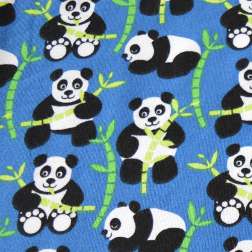 Lillestoff jersey - pandas and bamboo // Holm Sown