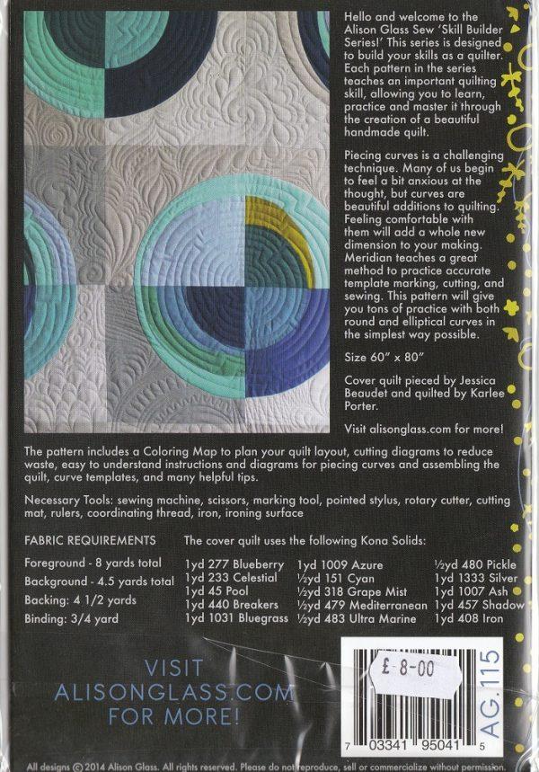 Meridian quilt pattern back
