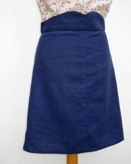 Denim cotton / linen mix as a Ginger Skirt