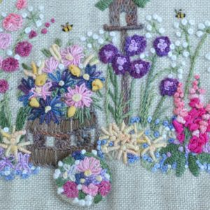 English Country Garden needlecase - right detail // Holm Sown