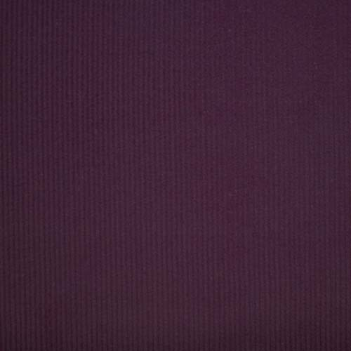 Plum washed cotton needlecord