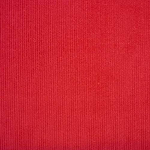Red Corduroy - Red Washed Cotton Needlecord Fabric