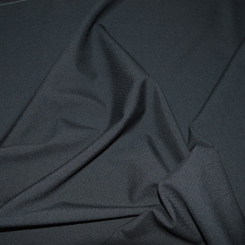 Dobby Wool Crepe - Black