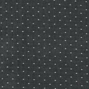Cotton Chambray Dots - Black