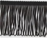 Looped Fringe Trim - Black