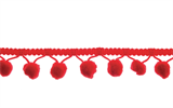 Large Pom Pom Trim - Red