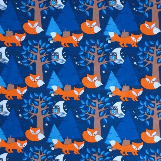 Lillestoff Night Foxes Jersey