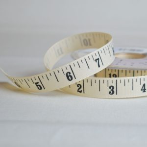 Berisfords Ribbon | Inches Tape Measure | 15mm wide | Holm Sown