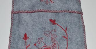 Embroidered Felt Hot Water Bottle // Holm Sown