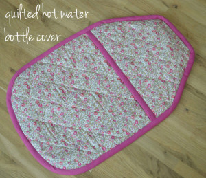 Quilted Hot Water Bottle Cover // Holm Sown