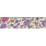 Bias Binding - Purple Ditsy Flower (20mm)