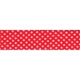 Bias Binding - Red Spot (20mm)