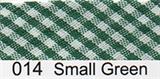 Bias Binding - Green Gingham (15mm)