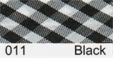 Bias Binding - Black Gingham (15mm)