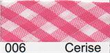 Bias Binding - Cerise Gingham (15mm)