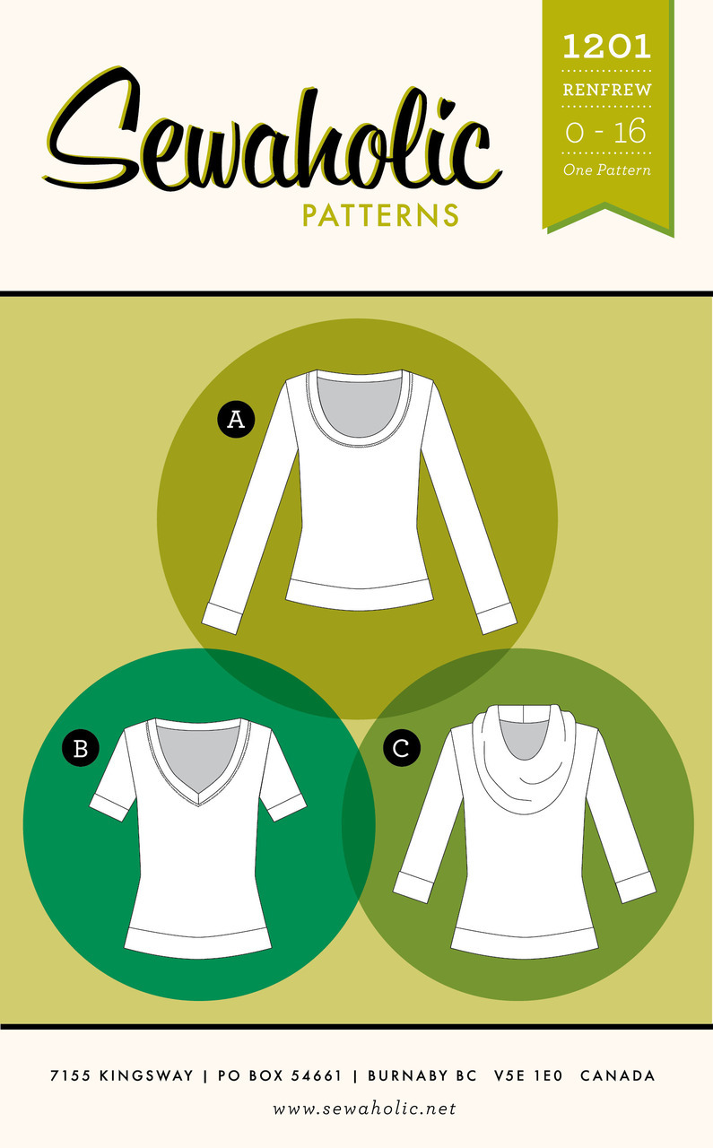 Learn to sew with jersey - Renfrew Top // workshop // Holm Sown