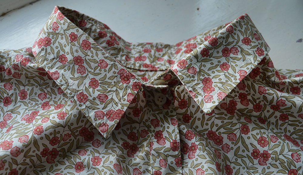 Grainline Alder // Floral Lawn // Collar Detail // Holm Sown