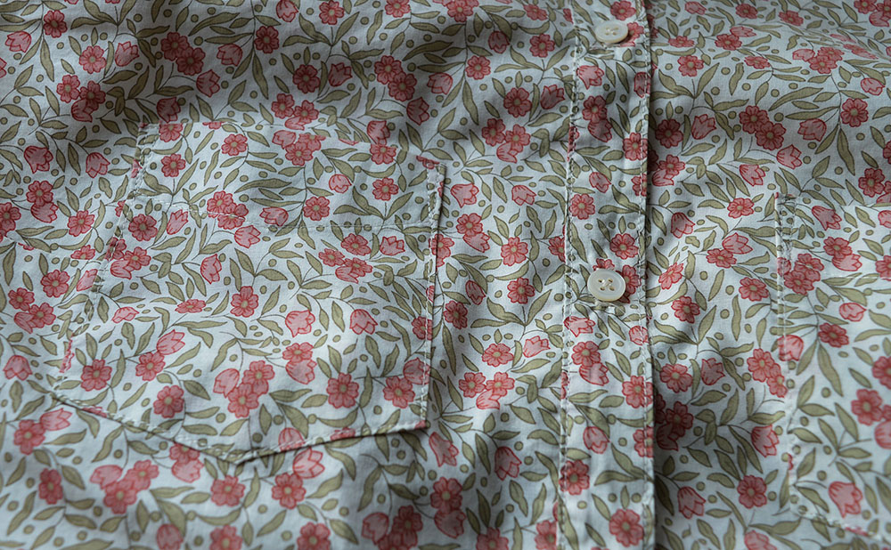 Grainline Alder // Floral Lawn // Pocket Detail // Holm Sown