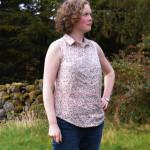 Grainline Alder Shirt // floral lawn // Holm Sown