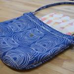 Crossbody Gatherer Bag // Rain Walk fabrics // Holm Sown