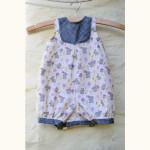 New Look 6111 Romper // Bunny Garden cotton // Holm Sown