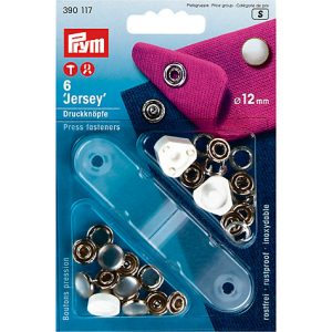P390117_Prym Pearl Jersey Press Fasteners - 12mm pack of 6