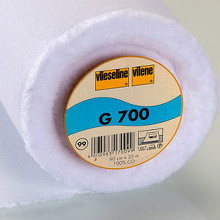 Vilene G700 woven iron-on interfacing (white)