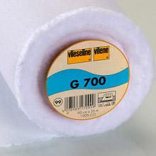 Vilene G700 woven iron-on interfacing (white)